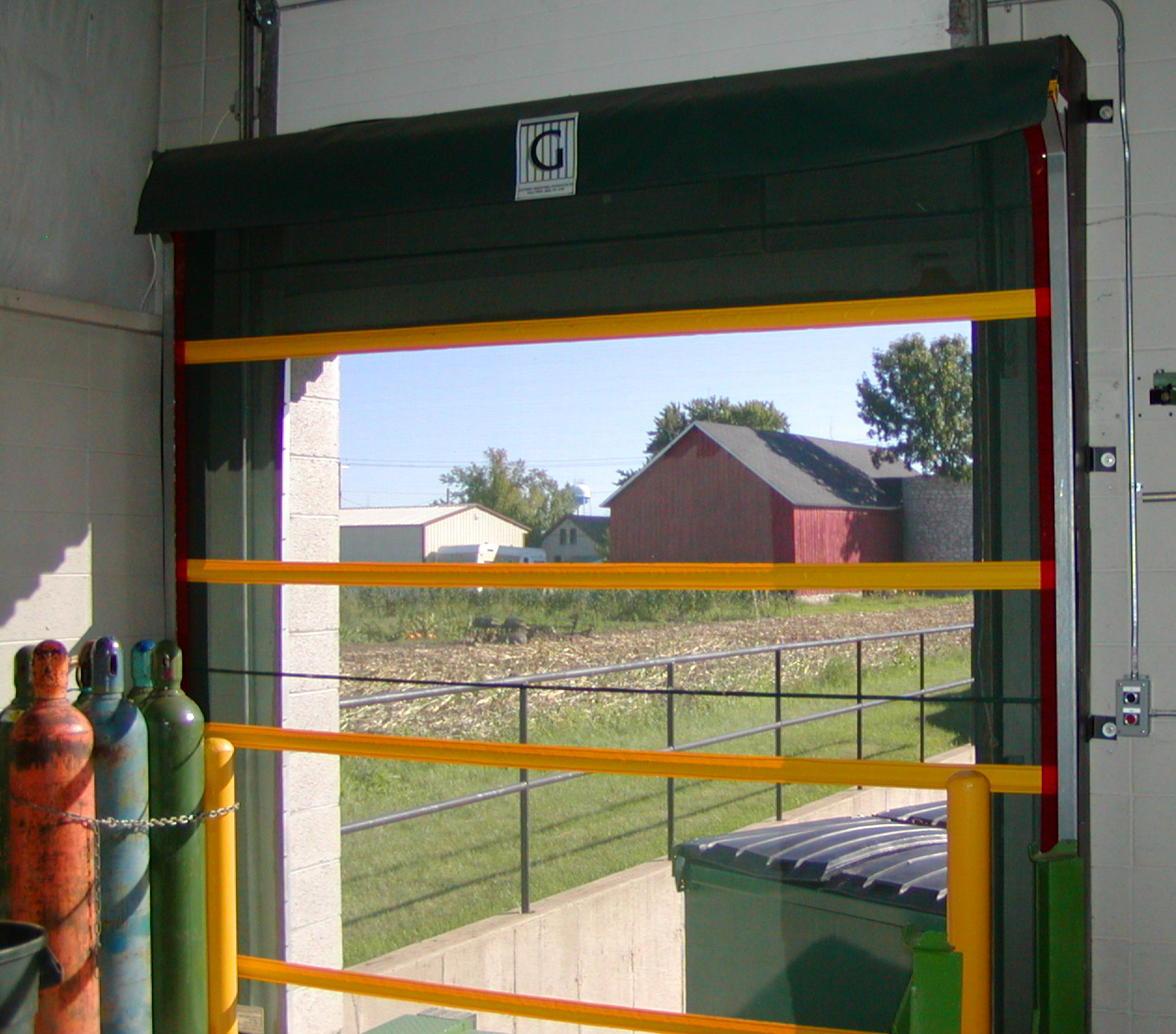 Industrial Roll Up Screen Door